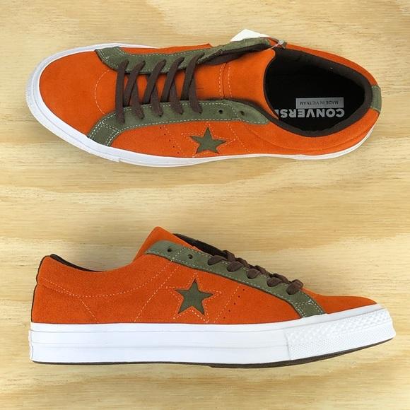 Converse One Star Pro Ox Orange Green